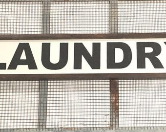 Laundry- Handpainted wood framed sign