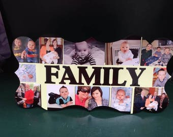 Wooden photo plaque personalised