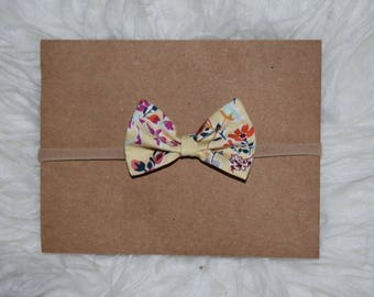 Spring Yellow Flower Baby Girl Bow