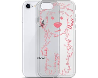 Pink (Blush) Doodle iPhone Case - GoldenDoodle LabraDoodle