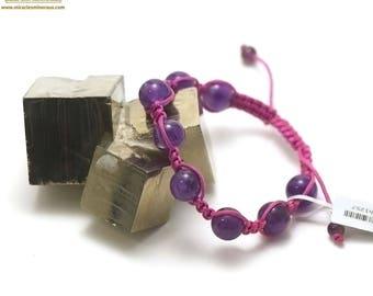 "Bracelet ""shamballa"" natural stone, Amethyst"