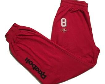 Reebok Pants Vintage San Francisco 49ers Steve young 8 - Sz XL (1)