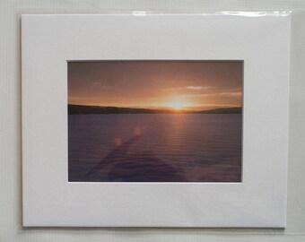 Sunrise on the lake - 8x10