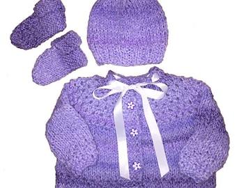 Purple Patch Sweater Set