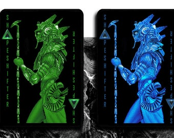 PRE-ORDER for Dual Set of Shapeshifter Playing Cards (Blue and Green Deck)