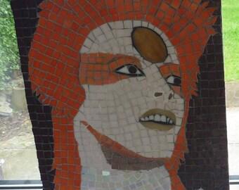 David Bowie mosaic portrait  Ziggy Stardust