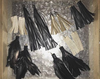 Feathered/ Fringe Leather Earrings