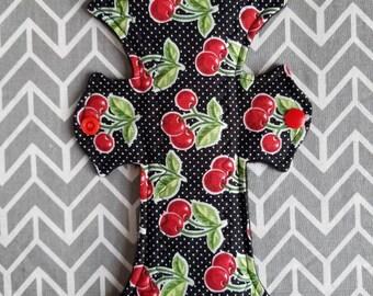 """10""""/Cherry/moderate cloth pad"""