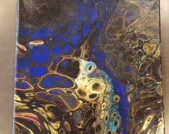 Gold Streak - 10x10 Abstract Fluid Art