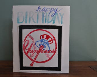 Personalized Sports Team Watercolor Card