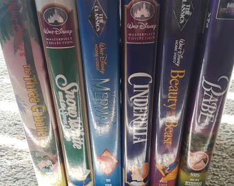 6 Old Disney VHS movies