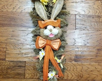 Easter Bunny Swag- Front Door Welcome- Spring Decor- Gift for her - Gift for Mom - Easter Decor - Spring Decor