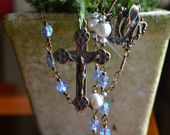 Replica Vintage Czech Glass Rosary