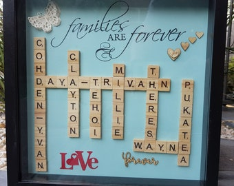 Personalised Scrabble Frame - Family