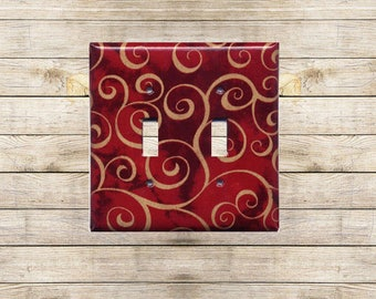 Red Curls Decorative Switchplate