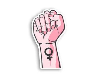 Girl Power Fist Magnet - Resist Feminist Feminism The Future is Female Magnet- Gender Equality Magnet - Women's Rights Movement Magnet