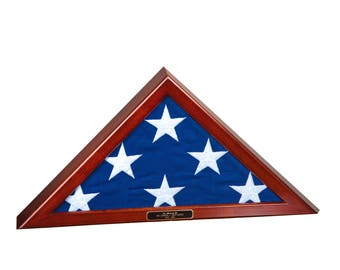 Memorial Size (5'x9.5') Flag Display Case without Base