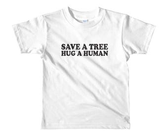 Save a Tree Short sleeve kids t-shirt Funny T-shirt Cute T-shirt Crew Neck Gift