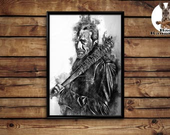 Negan print wall art home decor poster