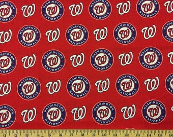 Washington Nationals Cotton Fabric by the Yard
