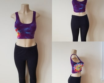 Cotton spandex crop top Size Small