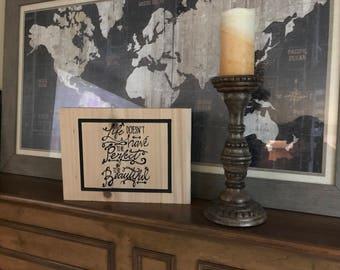 Wood sign custom made