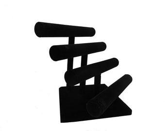 """Black Velvet T Bars Bracelet Display 12x11 1/2""""H"""