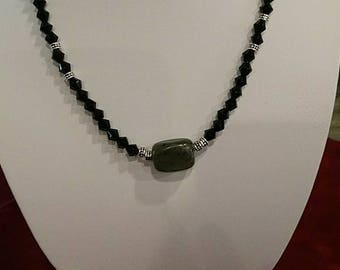 17 1/2 in long gemstone necklace