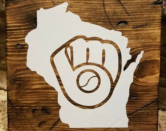 Milwaukee Brewers Rustic sign.