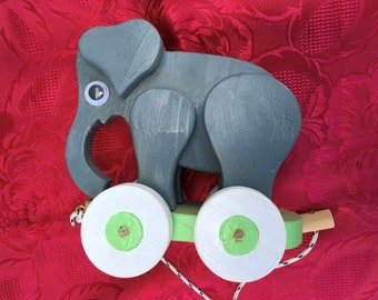 Pullalong Elephant Toy