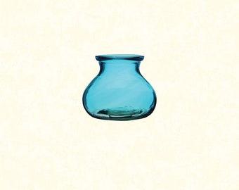 """5"""" Vintage Blue Rosie Posie Vase"""