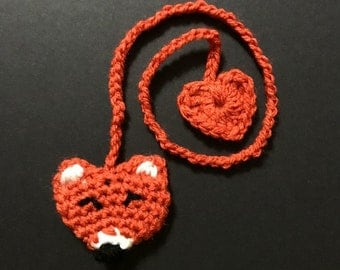 Crochet Fox umbilical cord tie