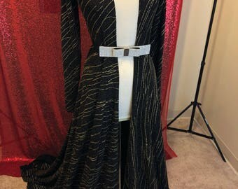 Black ans gold Dress Robe