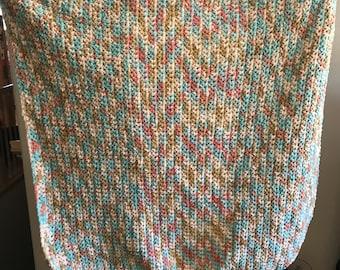 Baby blanket crochet chenille 42x39
