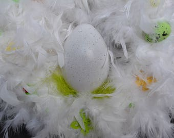 Easter Wreath/door wreath/table decorations with feathers