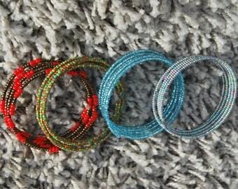 Beaded Stiff bracelets