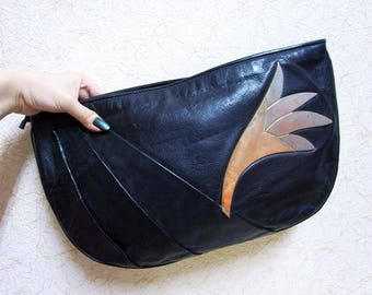 Fiber Street VINTAGE! 80s 90s vintage beautiful leather 2colors bag