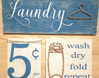 Laundry 3 piece sign