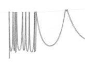 10M Silver Curb Chains 2mm x1.5mm