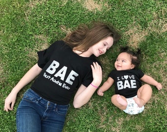 BAE Best Auntie Ever matching T-Shirts