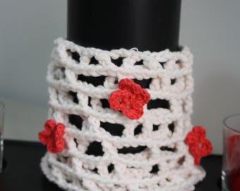 Knitted a crochet net for girls