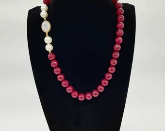 Natural stone necklace with natural Inframezzi