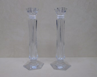 Vintage Samobor by ROGASKA  24% Lead Crystal Candle Holders * Made in Slovenia