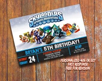 Skylanders Invitation,Skylanders Birthday Invitation,Skylanders Printable,Personalized Birthday Invitation,Skylanders