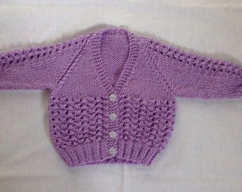 Handknitted Baby Girl Cardigan