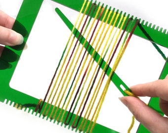 Weaving Loom Kit, Learn to Weave, Beginner Weaving, Emerald City