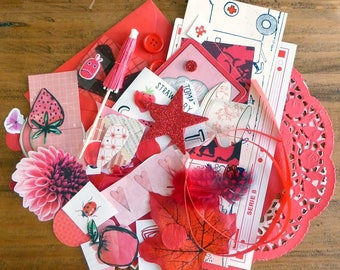 Red - Paper Ephemera Kit