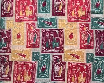 Original Vintage Fabric Remnant - 60s kitchen design