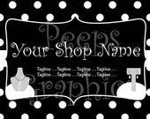 Reserved for margomasseydesigns - Polka Dot Banner & FB Cover Art Set