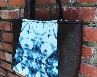 Everyday Tote April Rhodes Observer Indigo Blue Bag